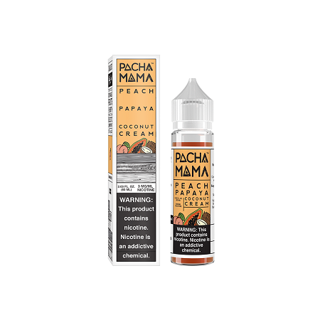 Peach Papaya Coconut Cream Pachamama E-liquid 60mL