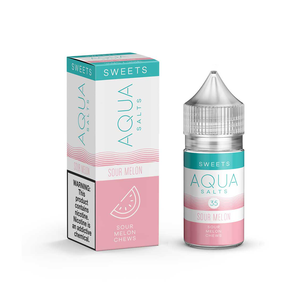 Sour Melon Aqua Salt E-Liquid 30mL