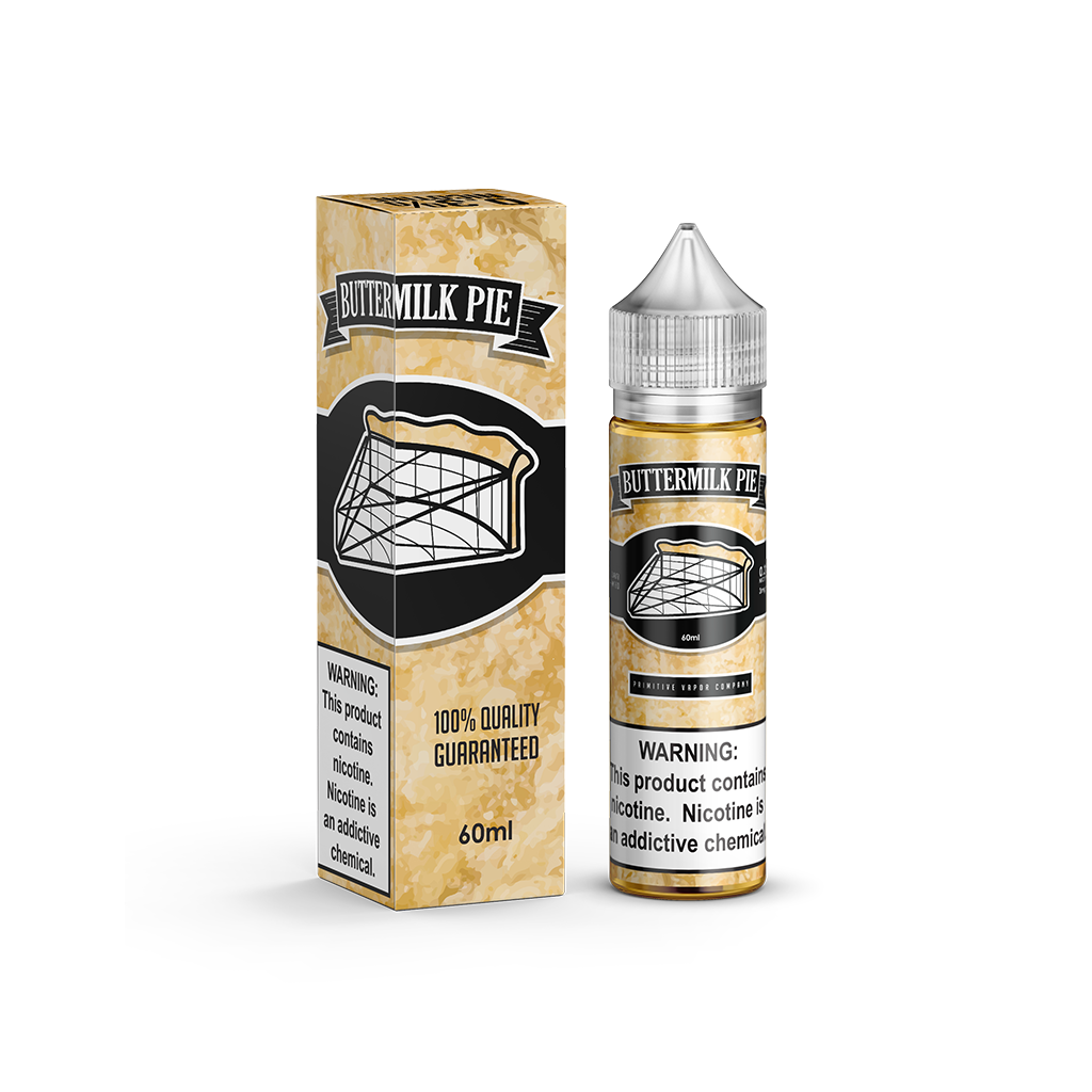 Buttermilk Pie Primitive Vapor E-Liquid 60mL