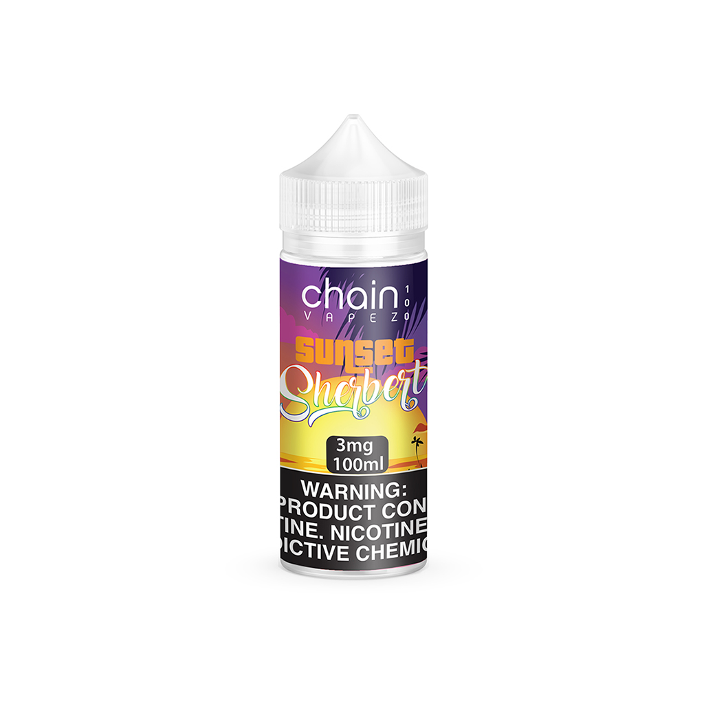 Sunset Sherbert Chain Vapez E-Liquid 100mL