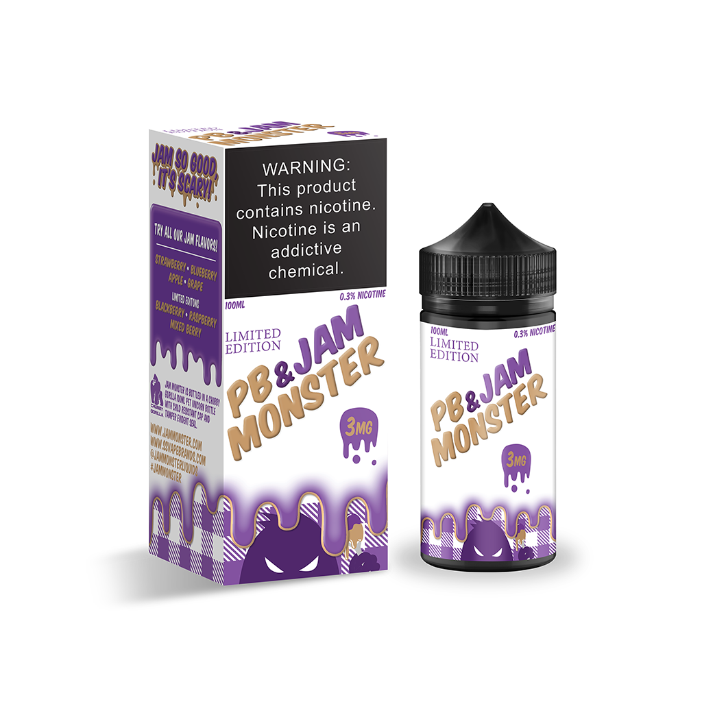 PB & Jam Monster E-Liquid 100mL