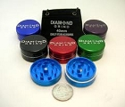 Diamond Grind 2 Part Aluminum Colored Grinder Mini