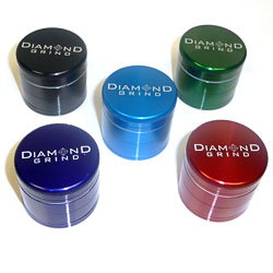 Diamond Grind 4 Part Aluminum Colored Grinder Small