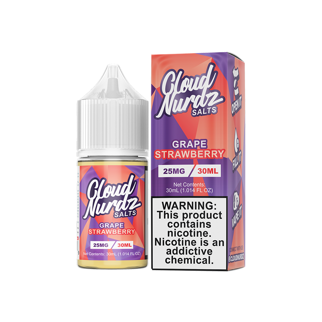 Grape Strawberry Cloud Nurdz Salt E-Liquid 30mL
