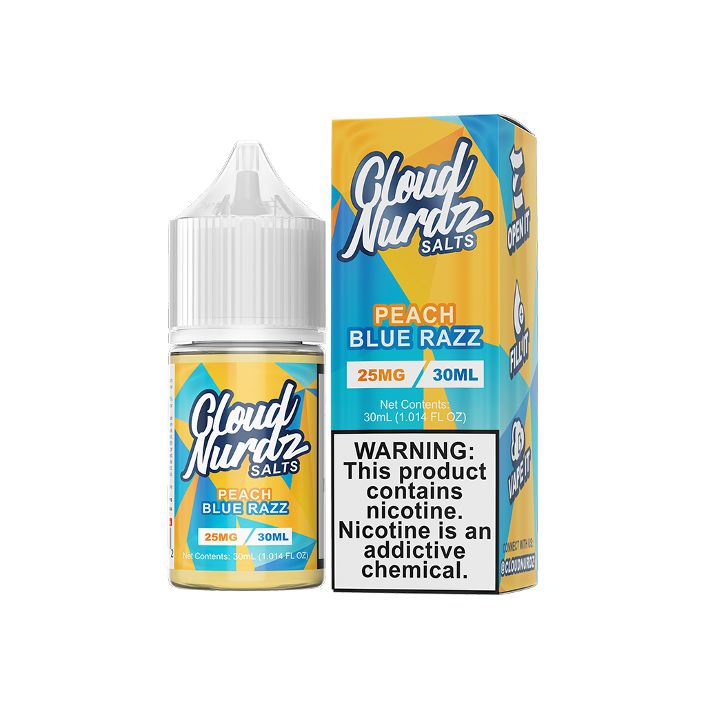 Peach Blue Razz Cloud Nurdz Salt E-Liquid 30mL