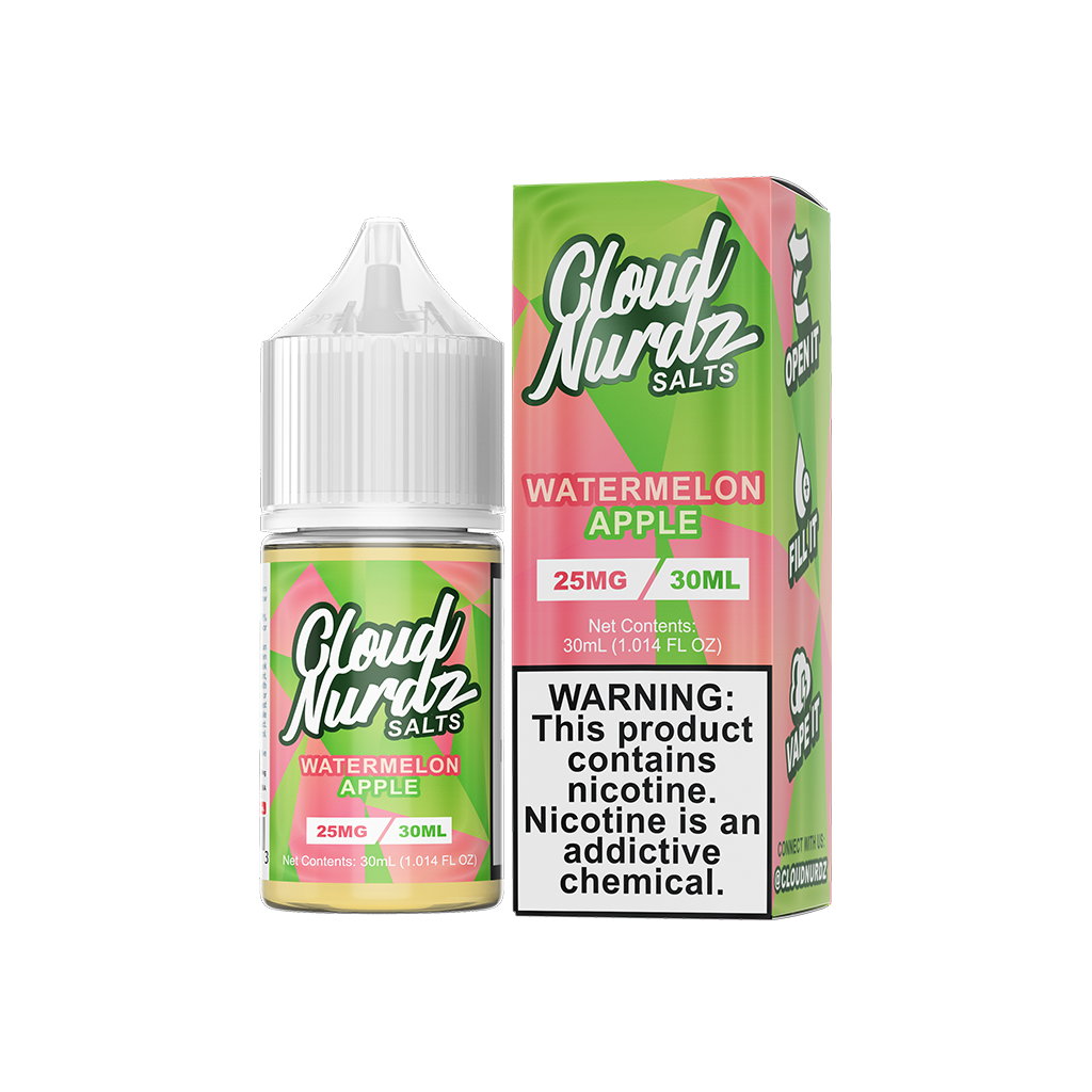Watermelon Apple Cloud Nurdz Salt E-Liquid 30mL